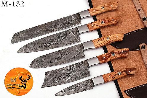 DAMASCUS STEEL CHEF KITCHEN KNIFE SET- M 132