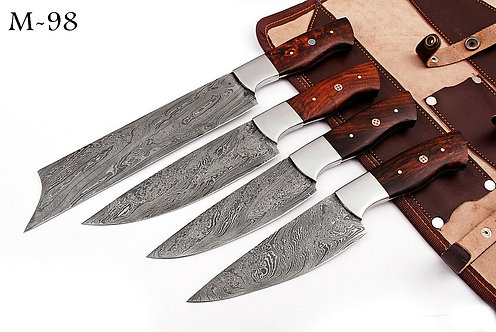 DAMASCUS STEEL CHEF KNIFE KITCHEN SET- M 98