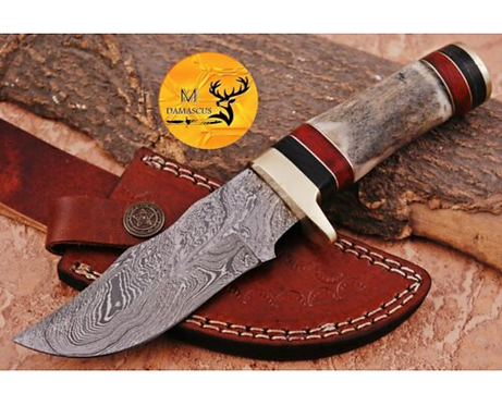 DAMASCUS STEEL SKINNER HUNTING KNIFE - AJ 1120