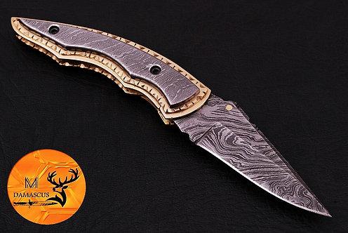 DAMASCUS STEEL FOLDING POCKET KNIFE- AJ 556