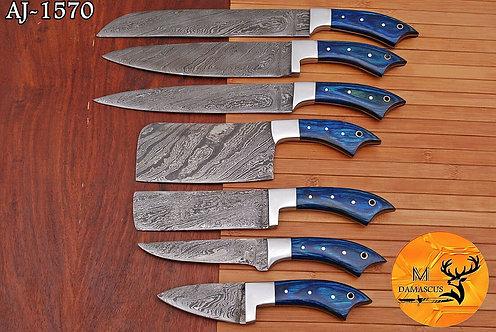 DAMASCUS STEEL CHEF KNIFE KITCHEN SET- AJ 1570