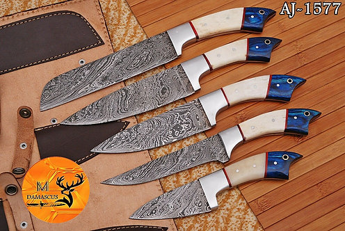 DAMASCUS STEEL CHEF KNIFE KITCHEN SET- AJ 1577