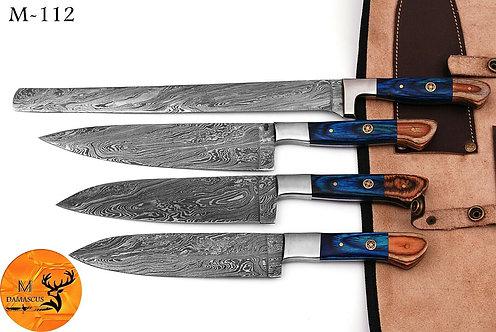 DAMASCUS STEEL CHEF KNIFE KITCHEN SET- M 112