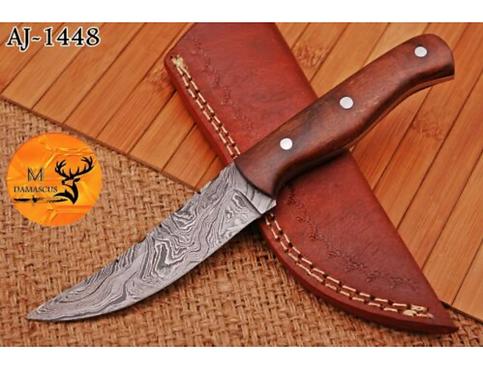 DAMASCUS STEEL SKINNER HUNTING KNIFE  - AJ 1448