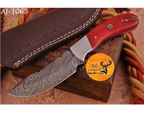 DAMASCUS STEEL SKINNER HUNTING KNIFE - AJ 1065