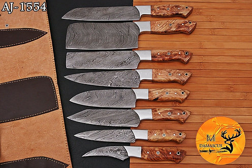 DAMASCUS STEEL CHEF KITCHEN KNIFE SET- AJ 1554