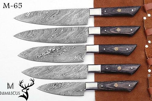 DAMASCUS STEEL CHEF KNIFE KITCHEN SET- M 65
