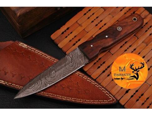 DAMASCUS STEEL THROWING BOOT DAGGER KNIFE - AJ 973