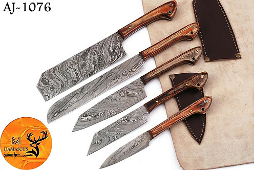 DAMASCUS STEEL CHEF KITCHEN KNIFE SET- AJ 1076