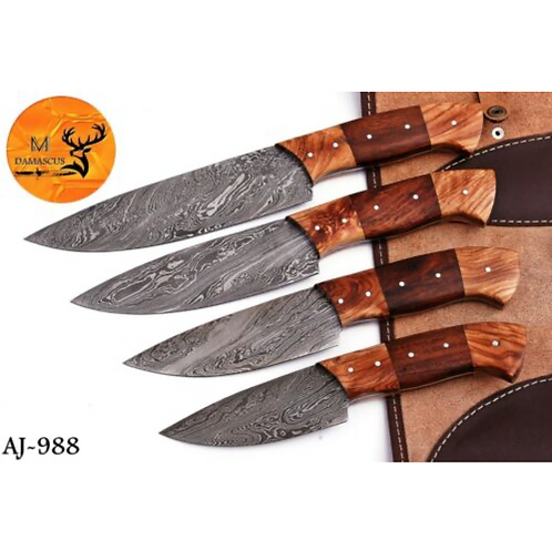 DAMASCUS STEEL KITCHEN CHEF KNIFE SET- AJ 988