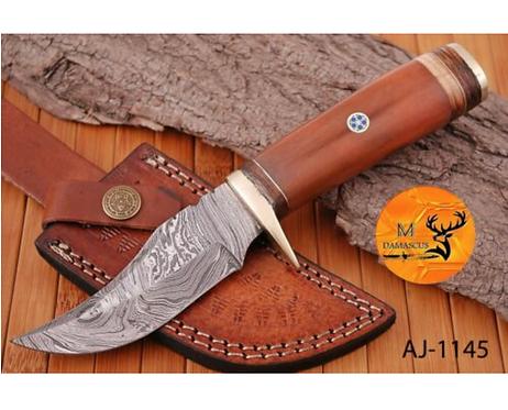 DAMASCUS STEEL SKINNER HUNTING KNIFE - AJ 1145