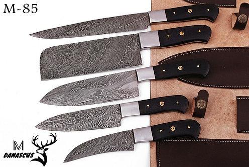 DAMASCUS STEEL CHEF KITCHEN KNIFE SET- M 85
