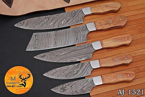 DAMASCUS STEEL CHEF KITCHEN KNIFE SET- AJ 1521