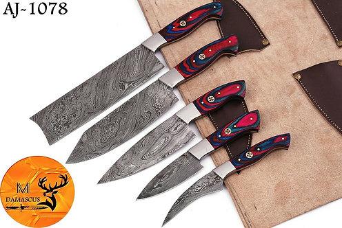 DAMASCUS STEEL CHEF KITCHEN KNIFE SET- AJ 1078