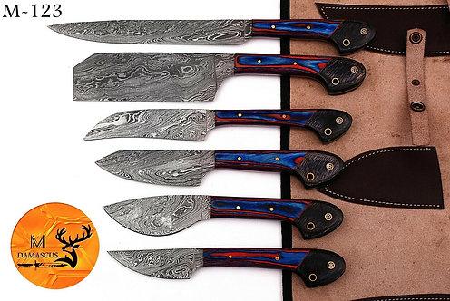 DAMASCUS STEEL CHEF KITCHEN KNIFE- M123