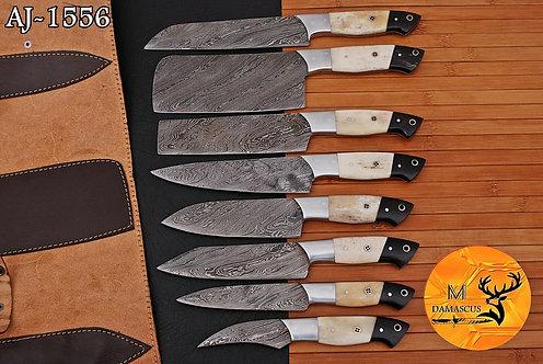 DAMASCUS STEEL CHEF KITCHEN KNIFE SET- AJ 1556