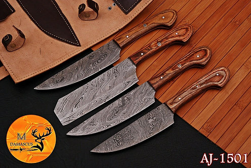 DAMASCUS STEEL CHEF KITCHEN KNIFE SET- AJ 1501
