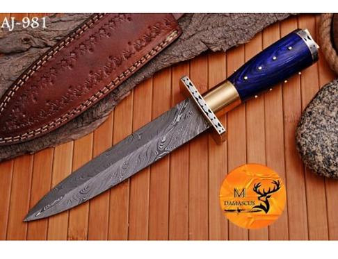 DAMASCUS STEEL DAGGER KNIFE- AJ 981