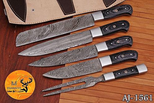 DAMASCUS STEEL CHEF KITCHEN KNIFE SET- AJ 1561