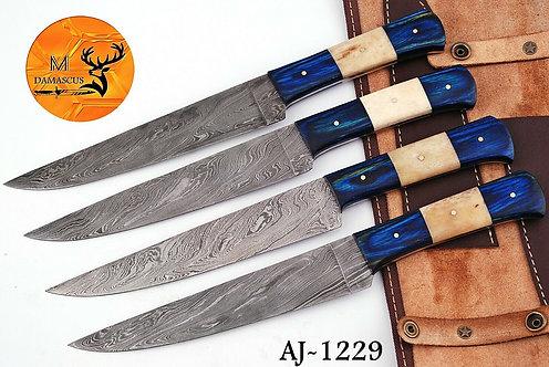 DAMASCUS STEEL CHEF KNIFE KITCHEN SET- AJ 1229