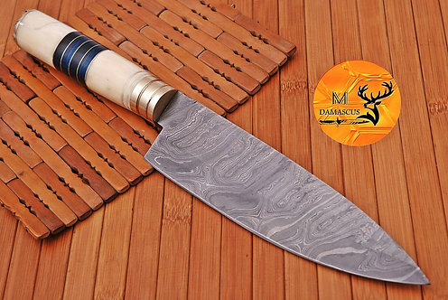 DAMASCUS STEEL CHEF KNIFE- AJ 1418