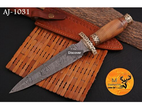 DAMASCUS STEEL DAGGER KNIFE - AJ 1031