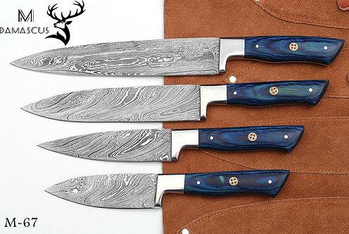 DAMASCUS STEEL CHEF KNIFE KITCHEN SET- M 67