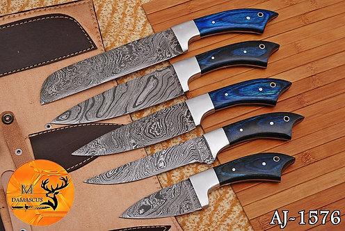 DAMASCUS STEEL CHEF KNIFE KITCHEN SET- AJ 1576