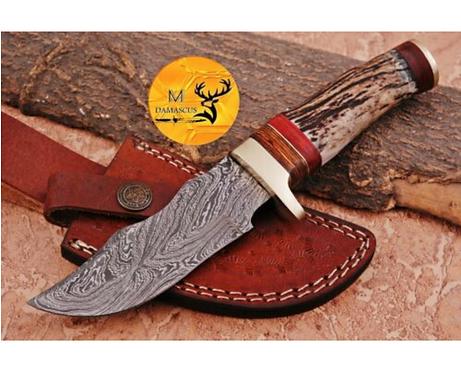 DAMASCUS STEEL SKINNER HUNTING KNIFE - AJ 1124