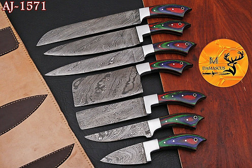 DAMASCUS STEEL CHEF KNIFE KITCHEN SET- AJ 1571