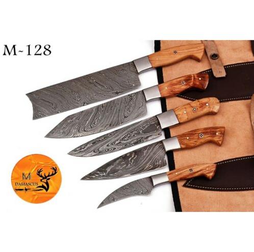 DAMASCUS STEEL CHEF KITCHEN KNIFE SET- M 128