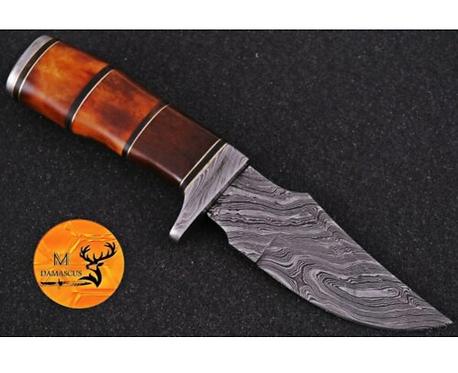 DAMASCUS STEEL SKINNER HUNTING KNIFE - AJ 992