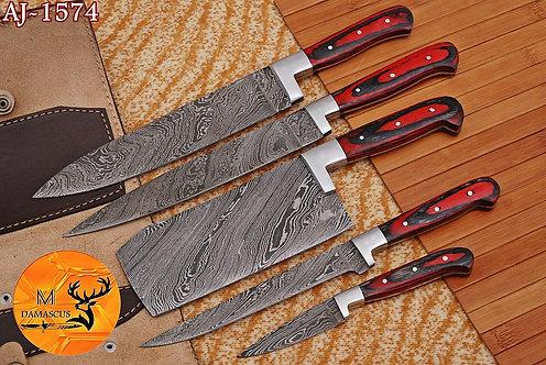 DAMASCUS STEEL CHEF KITCHEN KNIFE SET- AJ 1574