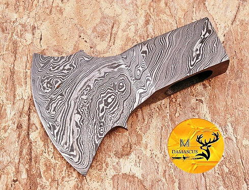 DAMASCUS STEEL AXE HEAD - AJ 1094