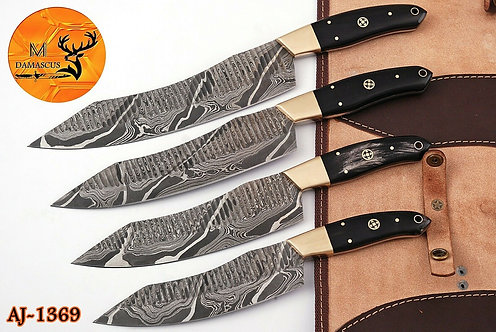 DAMASCUS STEEL CHEF KNIFE KITCHEN SET- AJ 1369