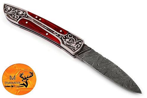 DAMASCUS STEEL FOLDING POCKET KNIFE- AJ 879