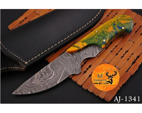 DAMASCUS STEEL SKINNER HUNTING KNIFE - AJ 1341