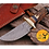 Thumbnail: DAMASCUS STEEL SKINNER HUNTING KNIFE - AJ 1107