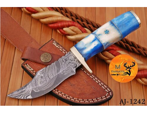 DAMASCUS STEEL SKINNER HUNTING KNIFE - AJ 1242