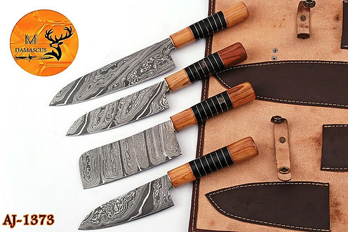DAMASCUS STEEL CHEF KNIFE KITCHEN SET- AJ 1373