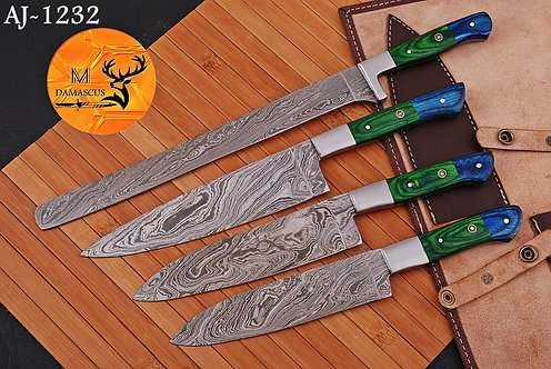 DAMASCUS STEEL CHEF KNIFE KITCHEN SET- AJ 1232