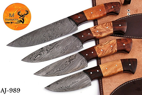 DAMASCUS STEEL KITCHEN CHEF KNIFE SET- AJ 989