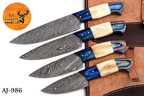 DAMASCUS STEEL CHEF KNIFE KITCHEN SET- AJ 986