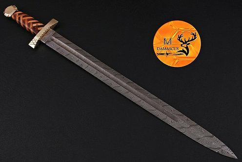 DAMASCUS STEEL SWORD- AJ 1085