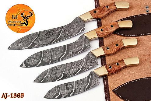 DAMASCUS STEEL CHEF KNIFE KITCHEN SET- AJ 1366