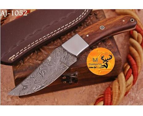 DAMASCUS STEEL SKINNER HUNTING KNIFE - AJ 1052