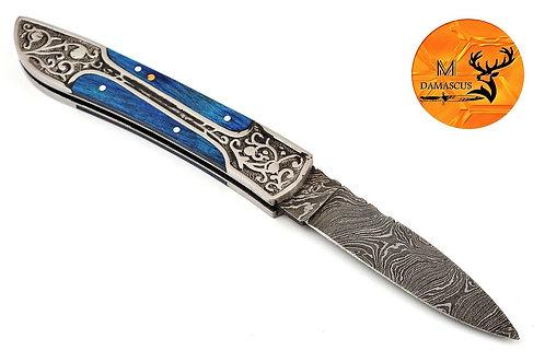 DAMASCUS STEEL FOLDING POCKET KNIFE- AJ 770