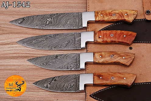 DAMASCUS STEEL CHEF KNIFE KITCHEN SET- AJ 1542