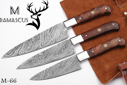 DAMASCUS STEEL CHEF KNIFE SET- M 66
