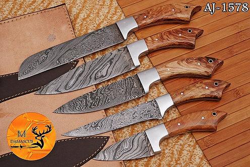 DAMASCUS STEEL CHEF KNIFE KITCHEN SET- AJ 1578